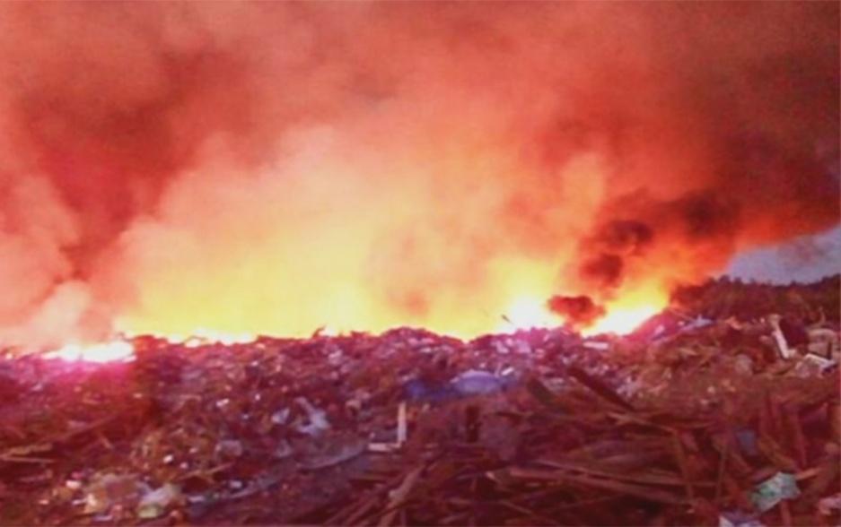 В Борисове на полигоне загорелись бытовые отходы У Барысаве на палігоне загарэліся бытавыя адходы