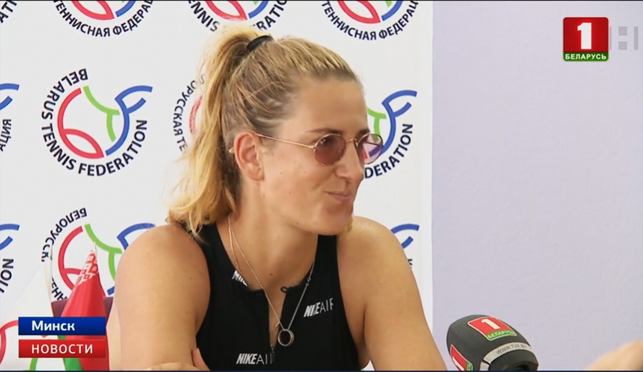 Виктория Азаренко провела сегодня мастер-класс для юных спортсменов Вікторыя Азаранка правяла сёння майстар-клас для юных спартсменаў