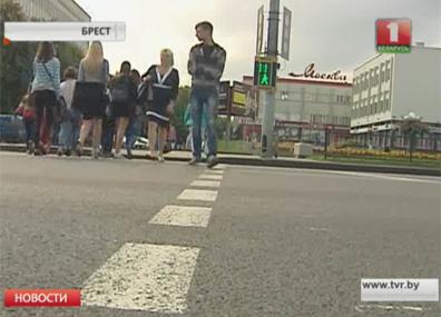 В Бресте водитель такси наехал на пешеходов У Брэсце вадзіцель таксі наехаў на пешаходаў