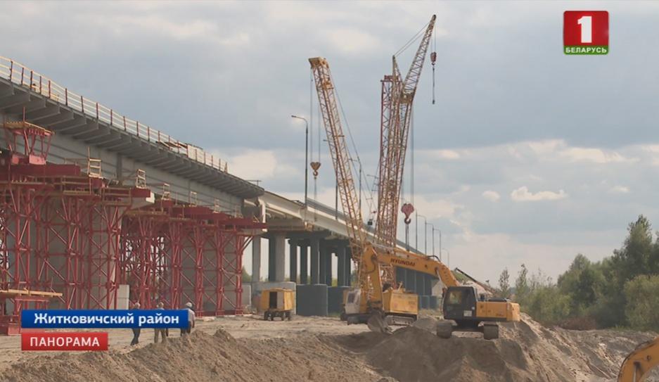 Реконструкцию моста через Припять в Житковичском районе завершат к 7  ноября Рэканструкцыю моста праз Прыпяць у Жыткавіцкім раёне завершаць да 7  лістапада