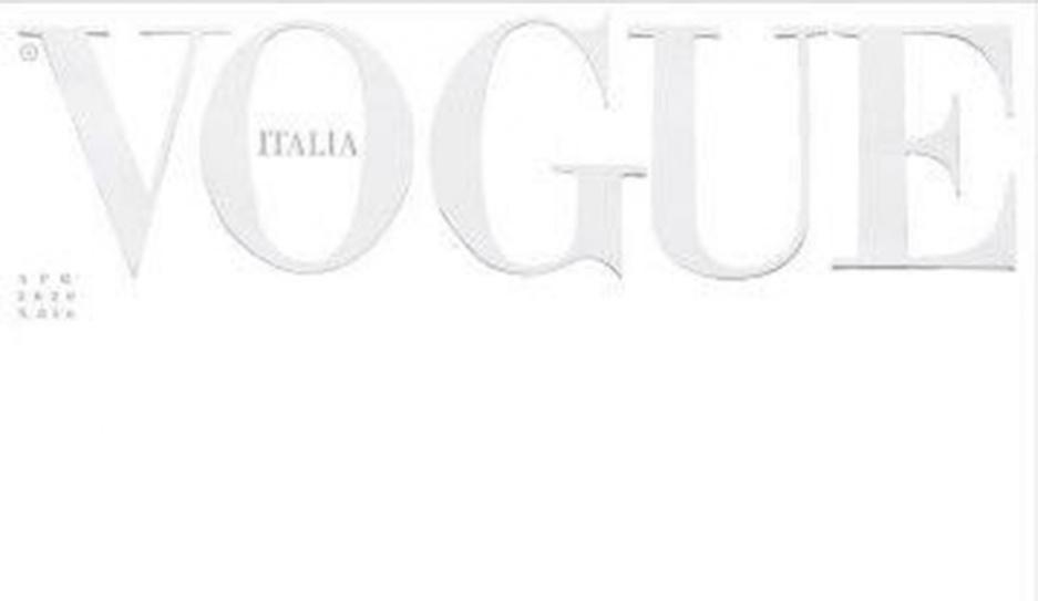 Апрельский номер итальянского Vogue впервые выйдет с белой обложкой