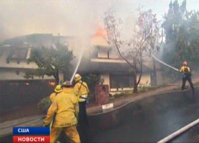В Калифорнии не утихают пожары У Каліфорніі не сціхаюць пажары