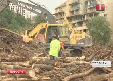 Сегодня в Грузии день траура по жертвам мощного наводнения Сёння ў Грузіі дзень жалобы па ахвярах магутнай паводкі