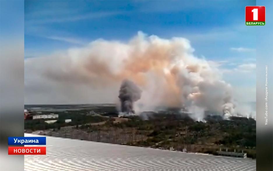 В чернобыльской зоне продолжается пожар на территории около полутора гектаров У чарнобыльскай зоне працягваецца пажар на тэрыторыі каля паўтара гектара