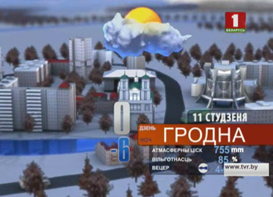 Прогноз погоды на 11 января  Прагноз надвор'я на 11 студзеня