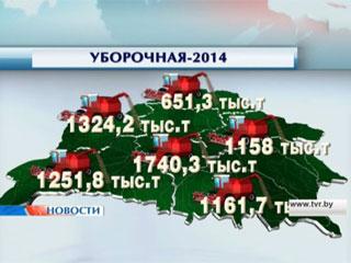 Убрано 75% площадей Сабрана 75% плошчаў Over 7 mln tons of grain harvested in Belarus