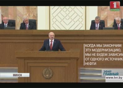 А. Лукашенко: Безопасность сегодня - это не только и не столько ракеты и танки. Это  экономика А. Лукашэнка: Бяспека сёння  - гэта не толькі і не столькі ракеты і танкі. Гэта  эканоміка.