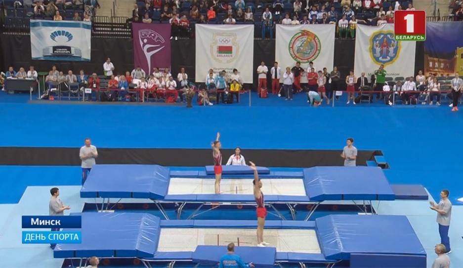 Три медали выиграли наши батутисты на домашнем этапе Кубка мира по прыжкам на батуте Тры медалі выйгралі нашы батутысты на дамашнім этапе Кубка свету па скачках на батуце 3 medals won by our trampolinists at home stage of World Cup in trampolining