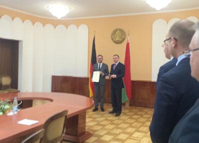 Беларусь и Германия отмечают 25-летие возобновления отношений