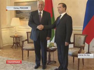 Экономические вопросы сотрудничества Эканамічныя пытанні супрацоўніцтва Mikhail Myasnikovich and Dmitry Medvedev discuss Belarus-Russia economic cooperation