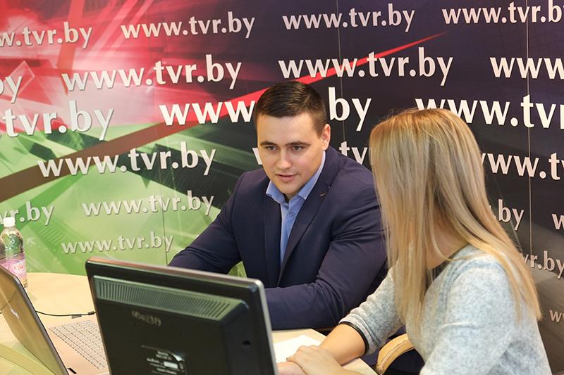 Председатель Совета молодых ученых НАН Беларуси Андрей Иванец