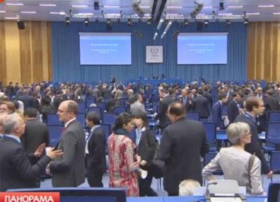 60-я сессия Генеральной конференции МАГАТЭ в Вене  60-я сесія Генеральнай канферэнцыі МАГАТЭ ў Вене