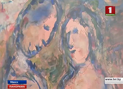 """Картина """"Влюбленные"""" Марка Шагала в Минске Карціна """"Закаханыя"""" Марка Шагала ў Мінску Lovers by Marc Chagall exhibited in Minsk"""