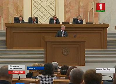 Правительство отвечает на вопросы депутатов  Сёння апошні дзень сесіі беларускага парламента сёлета Today is last day of session of Belarusian Parliament this year