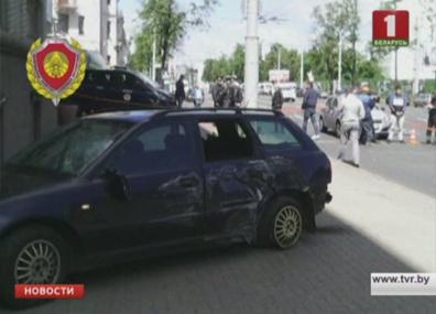 Серьезная авария в центре Минска Сур'ёзная аварыя ў цэнтры Мінска