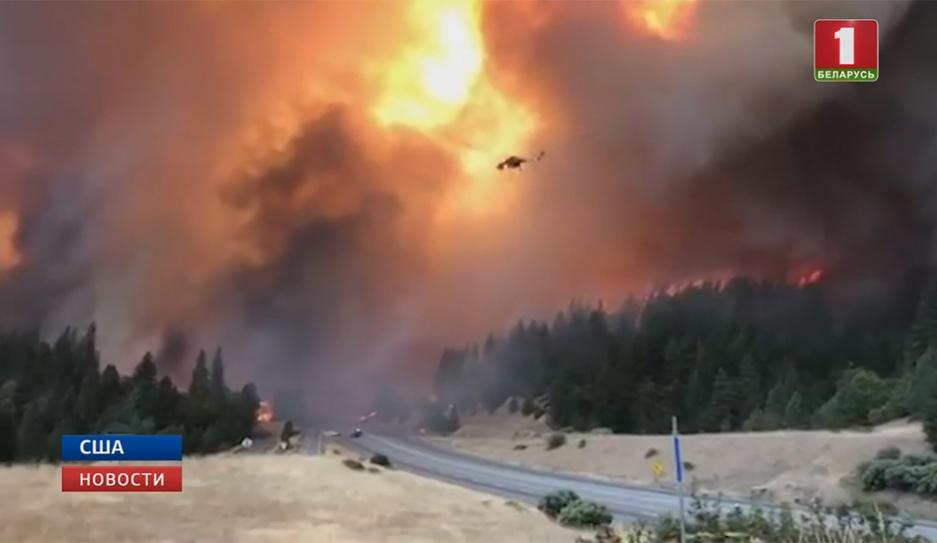 Масштабные природные пожары  в американском штате Калифорния