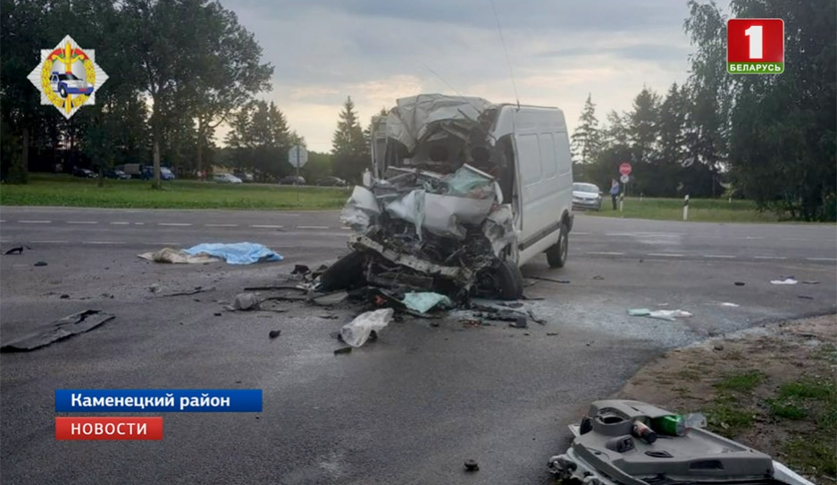 Страшная автокатастрофа произошла сегодня утром в Каменецком районе Страшная аўтакатастрофа адбылася сёння раніцай у Камянецкім раёне