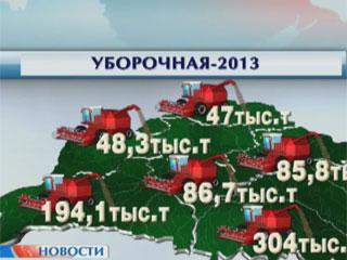 Накануне по стране намолотили  248 тысяч тонн зерна Напярэдадні па краіне намалацілі  248 тысяч тон збожжа 248.000 tons of grain harvested in Belarus yesterday