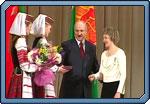 Президент Беларуси Александр Лукашенко 8 марта посетил отреставрированный Национальный академический Большой театр оперы и балета