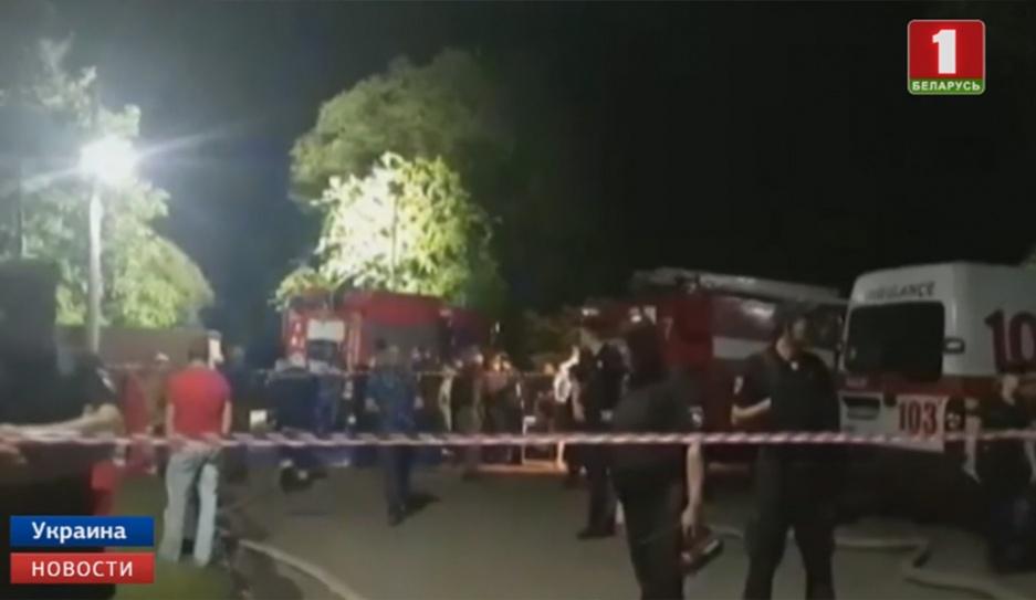 Пожар в психиатрической больнице Одессы Пажар у псіхіятрычнай бальніцы Адэсы
