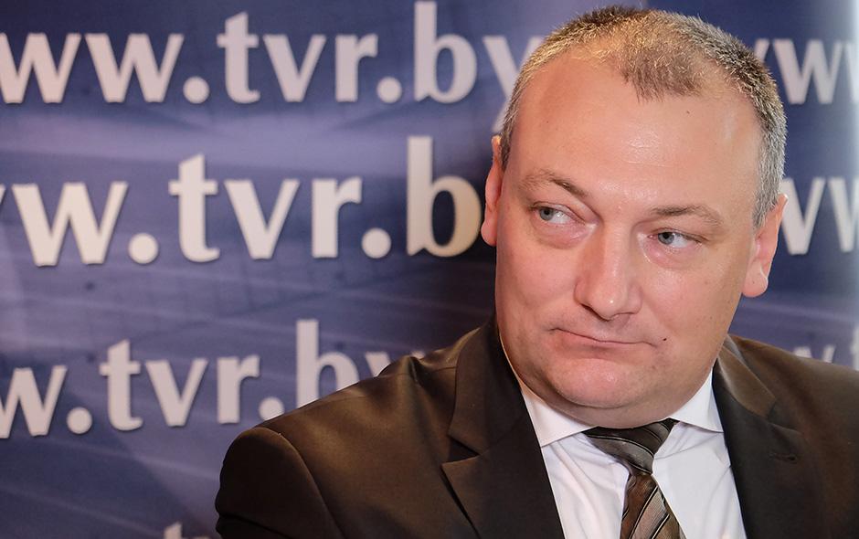 """Генеральный директор УП """"Киновидеопрокат"""" Мингорисполкома Павел Скалабан"""