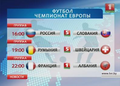 На чемпионате Европы по футболу в группах А и В стартует второй тур