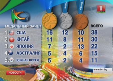 В медальном зачете Олимпиады  первая четверка за сутки изменений не претерпела У медальным заліку Алімпіяды  першая чацвёрка за суткі  не змянілася