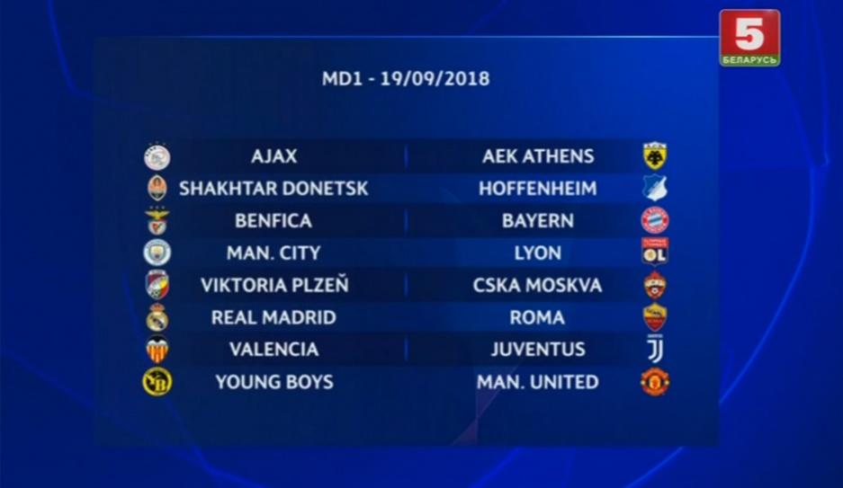 Лига чемпионов УЕФА. Видеожурнал (14.09.2018)
