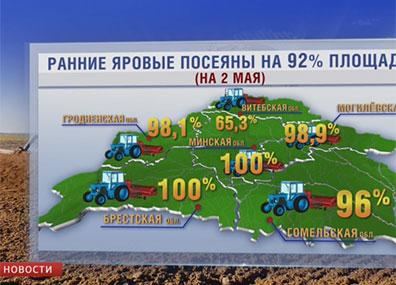 В Беларуси завершается сев ранних яровых У Беларусі завяршаецца сяўба ранняй ярыны
