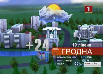 Прогноз погоды на 19 июля Прагноз надвор'я на 19 лiпеня