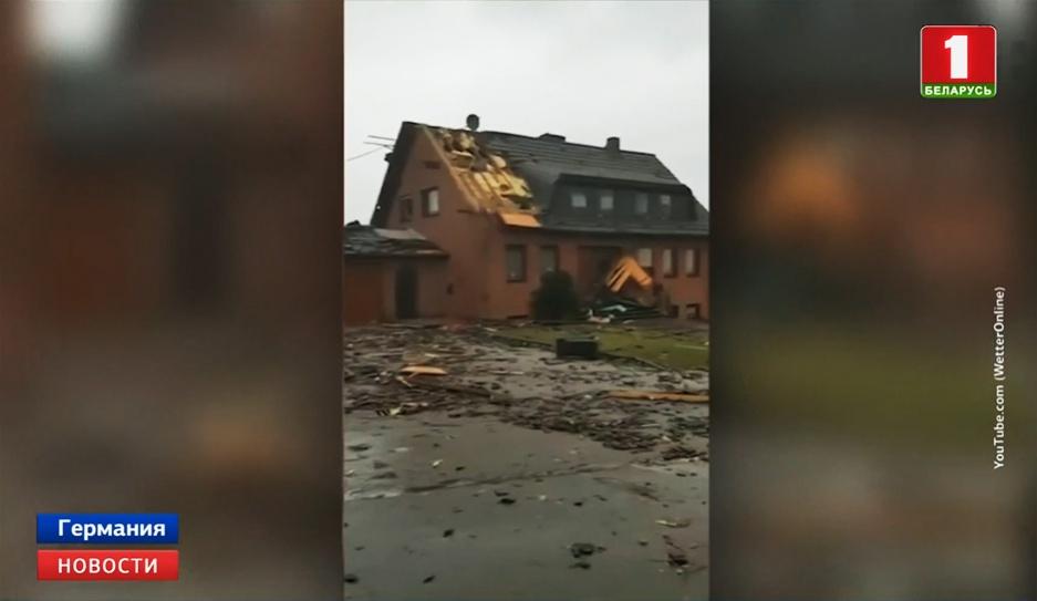 На запад Германии обрушился торнадо На захад Германіі абрынуўся тарнада