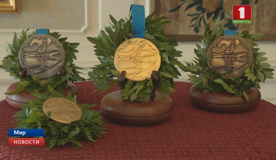 В Мирском замке сегодня презентовали медали ІІ Европейских игр У Мірскім замку сёння прэзентавалі медалі ІІ Еўрапейскіх гульняў Medals of the Second European Games presented in Mir Castle