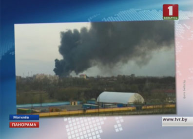 В Могилеве на улице Челюскинцев горит бывший регенераторный завод Надзвычайнае здарэнне ў Магілёве