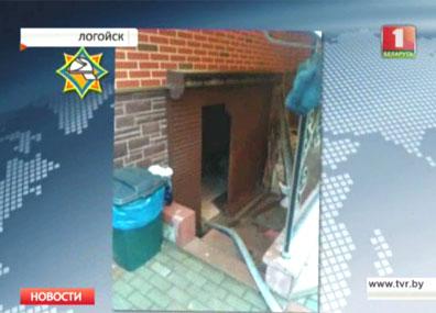 На пожаре в Логойске спасен 3-летний ребенок На пажары ў Лагойску выратавана 3-гадовае дзіця