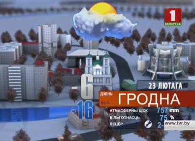 Прогноз погоды на 23 февраля Прагноз надвор'я на 23 снежня