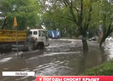 Непогода в Беларусь пришла из Польши