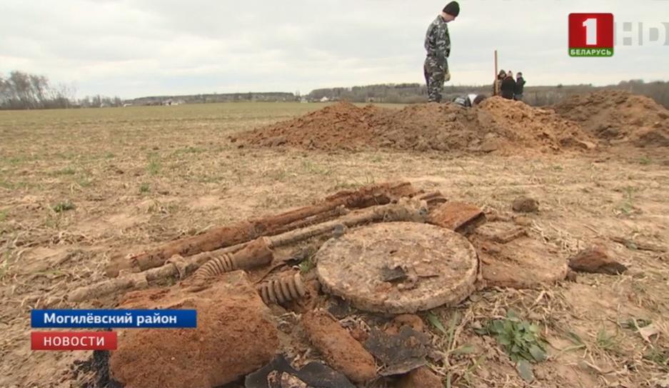 Найдены останки уже девяти бойцов Красной армии, которые обороняли Могилев в июле 1941 года Знойдзены ўжо дзевяці байцоў Чырвонай арміі, якія абаранялі Магілёў у ліпені 1941 года