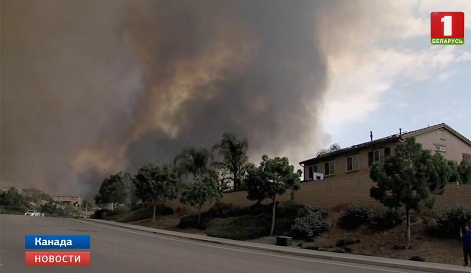 В Канаде  140 новых очагов лесных пожаров  из-за молний У Канадзе  140 новых ачагоў лясных пажараў  з-за маланак