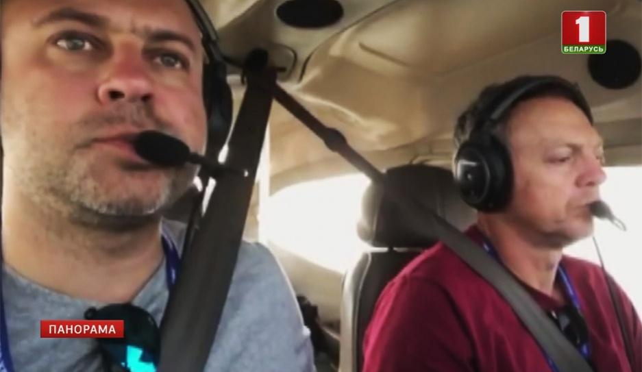 Белорусские пилоты сейчас находятся на озере Тахо Беларускія пілоты зараз знаходзяцца на возеры Таха