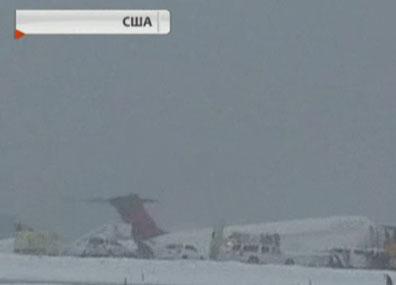 Очередная снежная буря обрушилась на северо-восток США Чарговая снежная бура абрынулася на паўночны ўсход ЗША