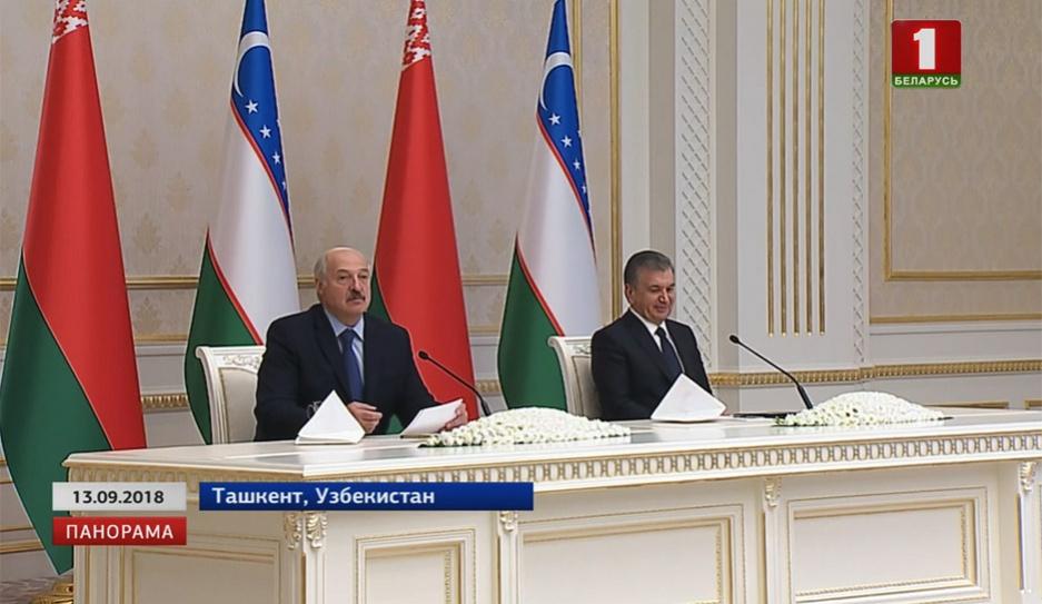Завершился официальный визит Александра Лукашенко в Узбекистан Завяршыўся афіцыйны візіт Аляксандра Лукашэнкі ва Узбекістан