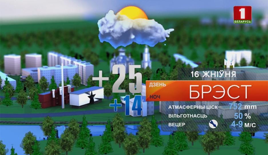 Прогноз погоды на  16 августа Прагноз надвор'я на 16 жніўня