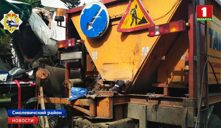 Серьезная авария на трассе М1 Брест - Минск Сур'ёзная аварыя на трасе М1 Брэст - Мінск