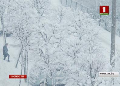 Мощные снегопады обрушились на Беларусь Магутныя снегапады абрынуліся на Беларусь