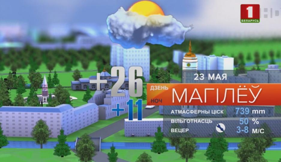 Прогноз погоды 23 мая Прагноз надвор'я на 23 мая
