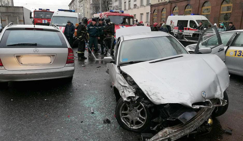 Авария на улице Московской