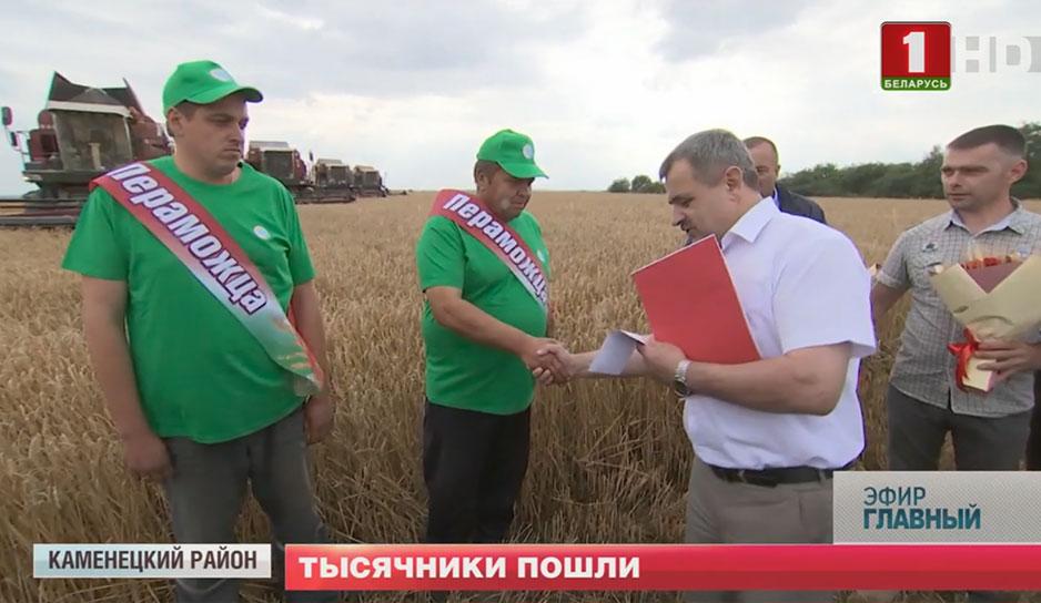 Первые комбайнеры-тысячники уже появились почти во всех областях Беларуси