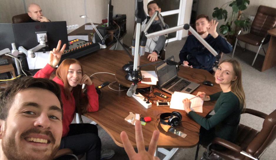В студии радио Сталіца