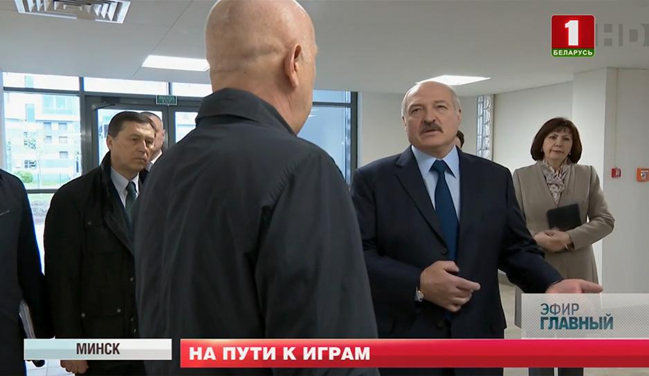 Александр Лукашенко в деревне спортсменов
