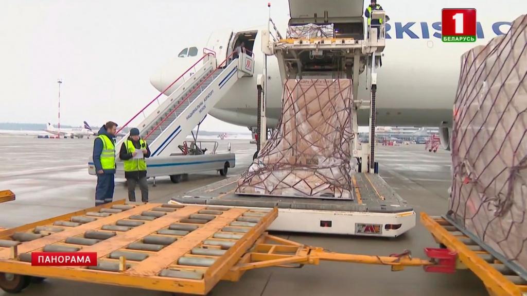 Первая часть гуманитарного груза из США общей стоимостью 5 миллионов долларов прибыла в Беларусь